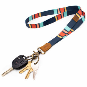 Multi color neck lanyard navy mint blue yellow red colors with keys and car key