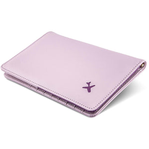 Travel wallet violet and purple bifold design passport cover