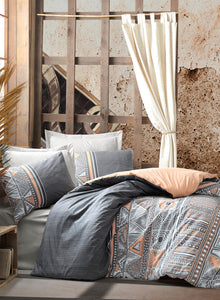Aztec Gray Duvet Cover Set | Gray