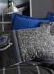 Blue Gray Royalty Duvet Cover Set | Anthracite