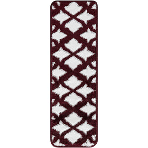"Stair Treads Rug 9""x27"" Floral Collection 