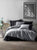 Black Gray Gentleman Duvet Cover Set | Gray