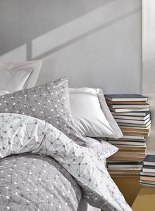 Gray Connections Duvet Cover Set | Gray