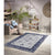Homeward Collection Non-Skid Area Rug | 5X7 Ft. | Blue - Gray