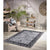 Homeward Collection Non-Skid Area Rug | 5X7 Ft. | Dark Gray