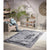 Homeward Collection Non-Skid Area Rug | 5X7 Ft. | Gray