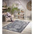 Homeward Collection Non-Skid Area Rug | 5X7 Ft. | Gray Madallion