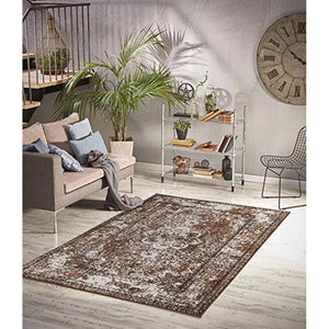 Homeward Collection Non-Skid Area Rug | 5X7 Ft. | L. Brown