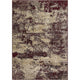 Homeward Collection Non-Skid Area Rug | 5X7 Ft. | Maroon - Beige