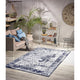 Homeward Collection Non-Skid Area Rug | 5X7 Ft. | Navy - Beige