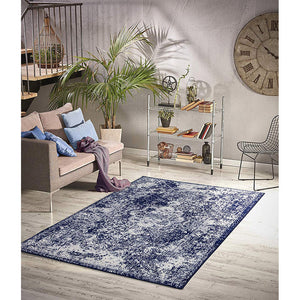 Homeward Collection Non-Skid Area Rug | 5X7 Ft. | Navy