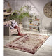 Homeward Collection Non-Skid Area Rug | 5X7 Ft. | Red - Beige
