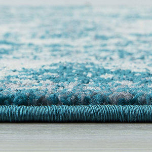 Homeward Collection Non-Skid Area Rug | 5X7 Ft. | Turquoise