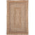 Contemporary Natural Jute Area Rug | 150x240 cm (5'x8') Diameter | Brown