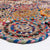 Contemporary Natural Jute Area Rug | 150x240 cm (5'x8') Diameter | Multicolor Circle