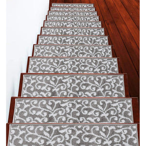 "Stair Treads Rug 9""x28"" Leaves Collection 