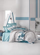Light Gray Cubes Duvet Cover Set | Teal