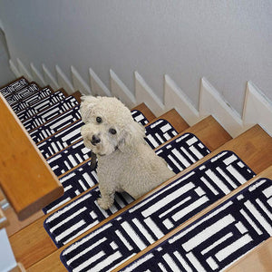 "Stair Treads Rug 9""x27"" Line Collection 