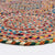 Contemporary Modern Natural Jute Area Rug | 150 cm (4.9') Diameter | Multicolor
