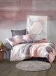 Peach Circles Duvet Cover Set | Pink