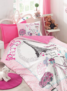 Pink Paris Duvet Cover Set | Pink
