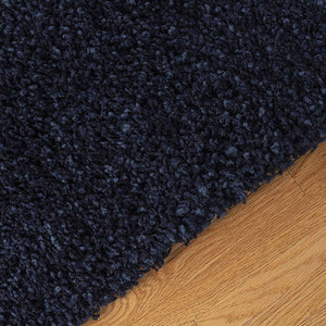 Shaggy High-Pile Soft Area Rug | Navy