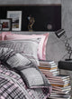 Sports in Blush Gray Duvet Cover Set | Pink
