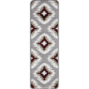 "Stair Treads Rug 9""x27"" Tetra Collection 