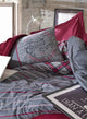 Winter Wine in Chicago Duvet Cover Set | Claret