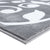 Sussexhome Beatrice Perfect Soft Area Rugs | Leaves - Gray/White - 4F.X6F.