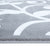 Sussexhome Beatrice Perfect Soft Area Rugs | Leaves - Gray/White - 3F.X5F.