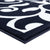 Sussexhome Beatrice Perfect Soft Area Rugs | Leaves - Navy/White - 4F.X6F.