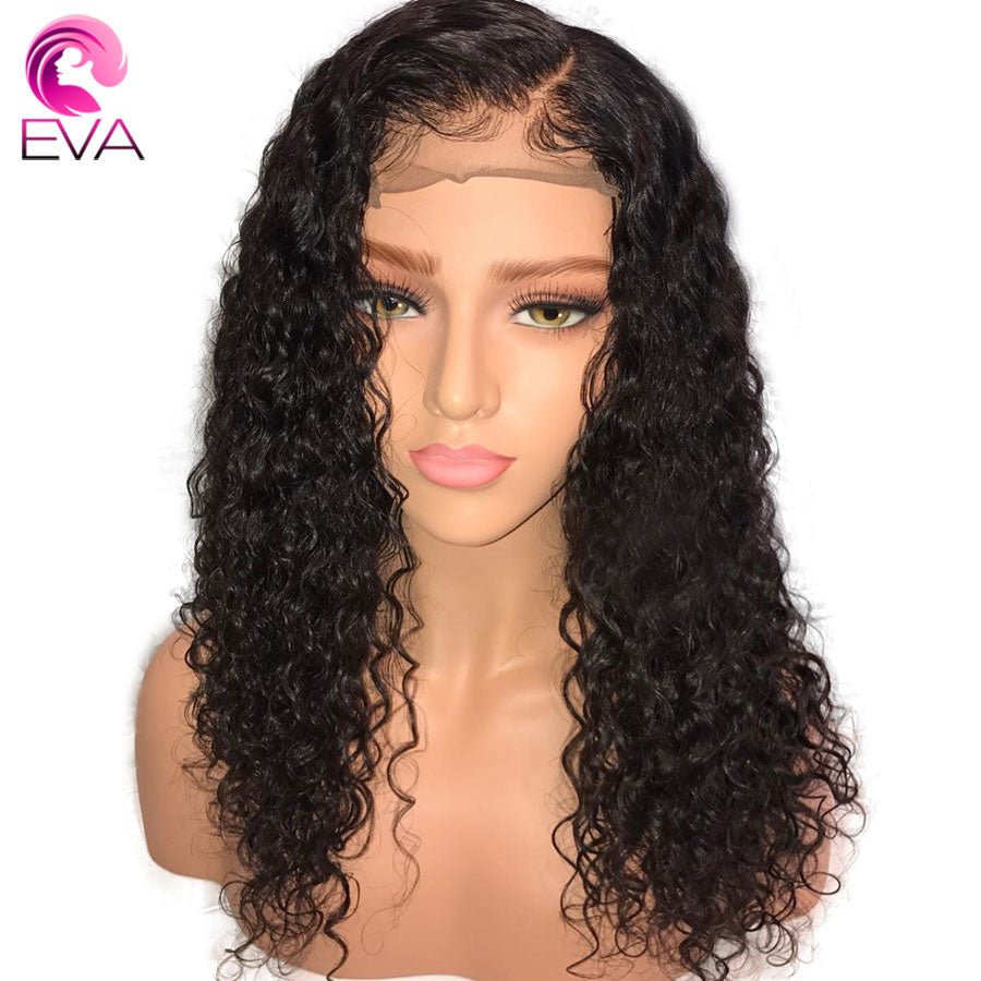 180% Density 360 Lace Frontal Wig Pre Plucked With Baby Hair Brazilian Remy  Curly Lace dec3bb4ef