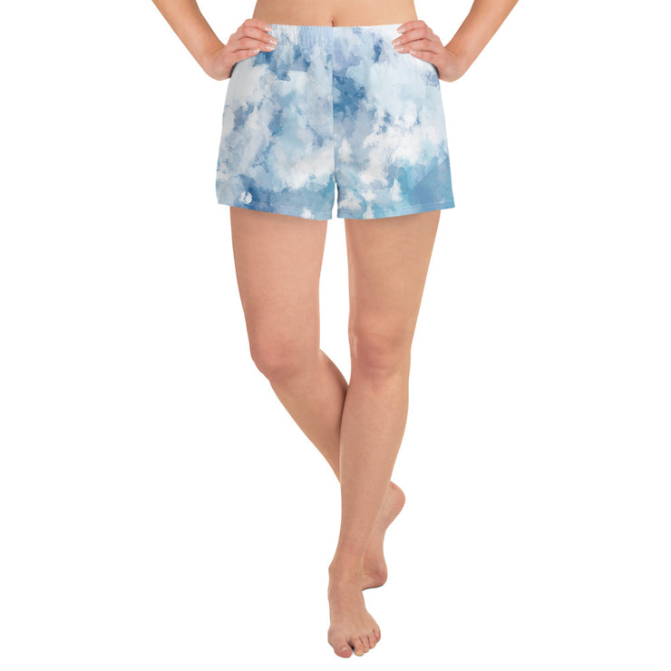 Women's Tie Dye Athletic Short Shorts
