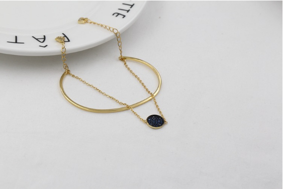 Blue and Gold Two-In-One Bracelet