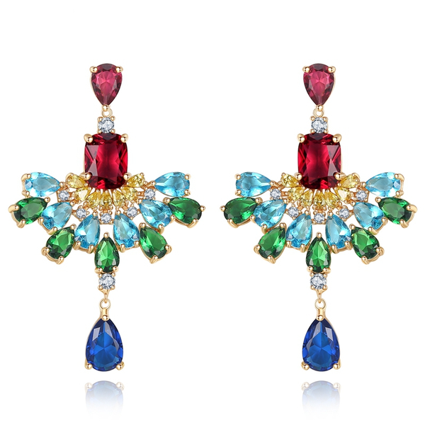 Colorful Crystal Drop Earrings