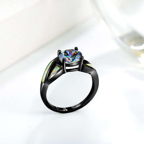 Diamante Black Ring