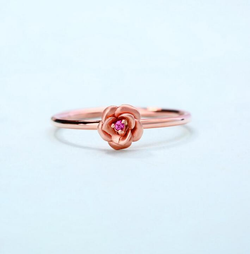 Gold Rose Rings