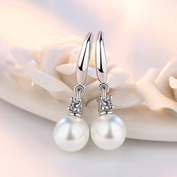 Dangling Pearl Earrings