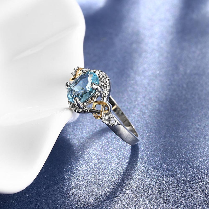 The Oval Blue Ring