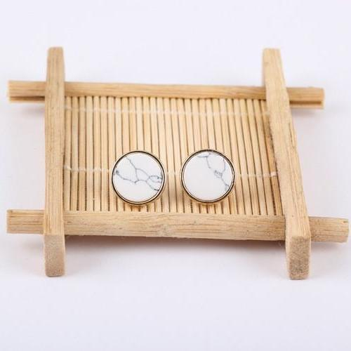 Marble Geometric Earrings