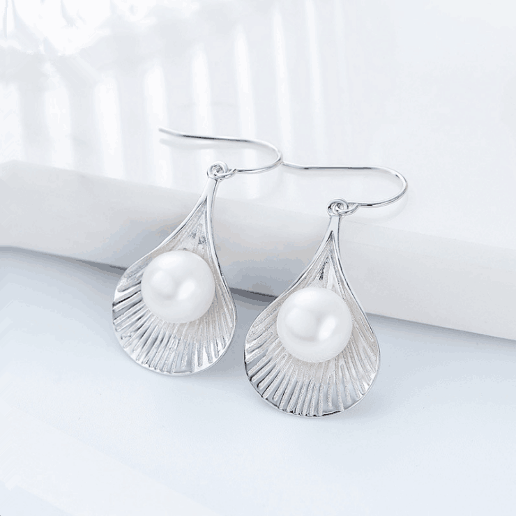 Shell and Pearl Earrings