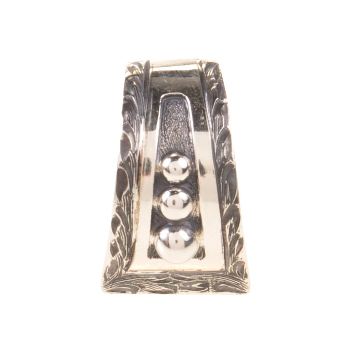 Vogt Western Silver Hand Engraved With Beaded Center Ring