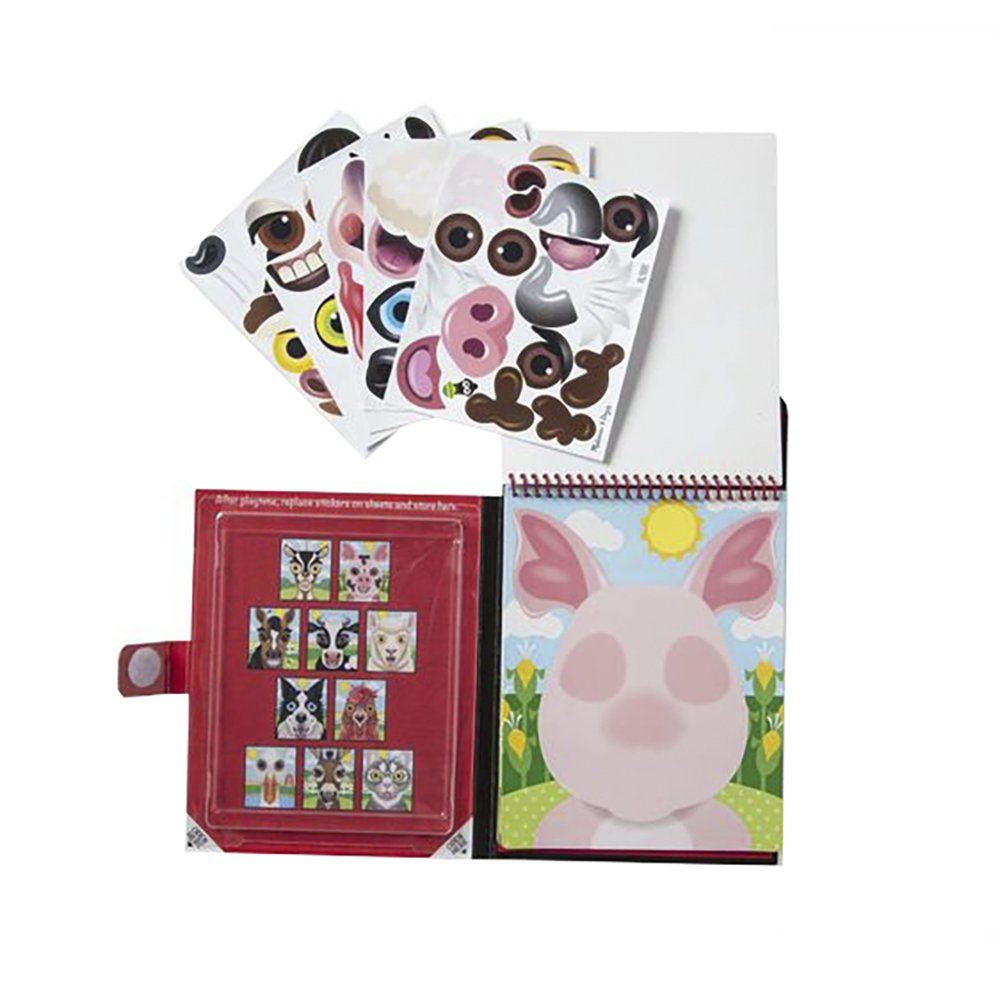 Melissa & Doug Make A Face Farm Sticker Pad