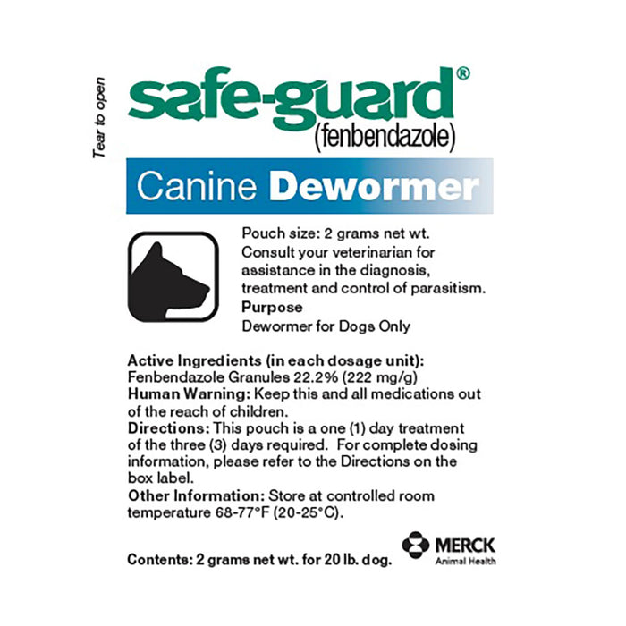 Merck Safe-Guard Canine Dewormer 20lb