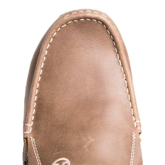 Men's Roper Tan Leather & Fabric Driving Moc