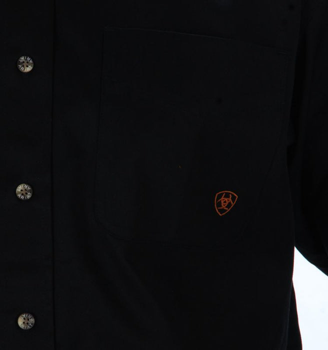 Men's Ariat Solid Twill Buttondown Black Shirt