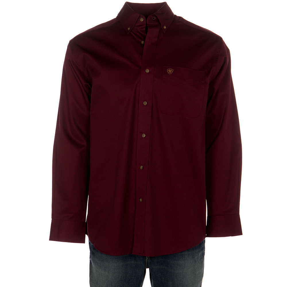 Men's Ariat Solid Twill Shirt