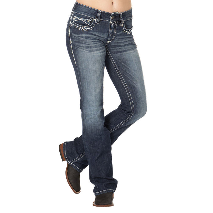Women's Ariat REAL Boot Cut Entwined Jean
