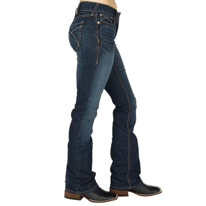Ladies Ariat Real Rosa Cooling Fabric Bootcut Jeans